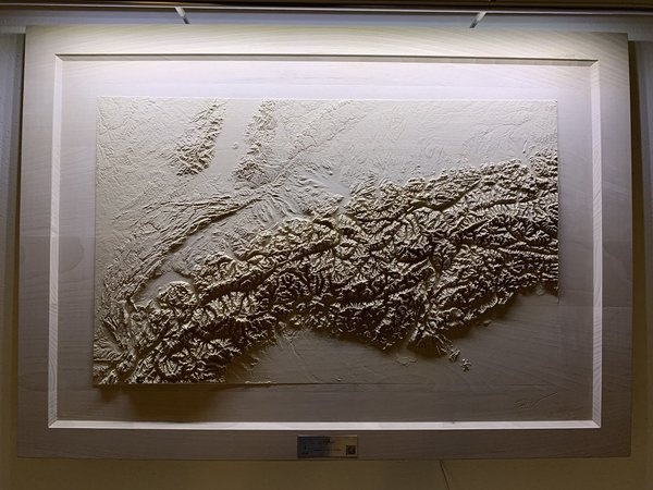 3D-Relief ALPEN in Holz